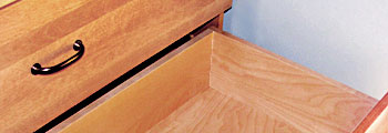 Maple Veneer Plywood drawer bottom with clean joints
